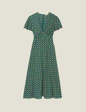 Short-Sleeved Printed Flowing Dress : Dresses color Green