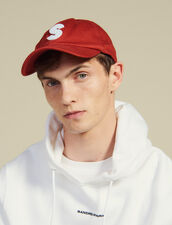 Cap With S Patch : Hats color Red