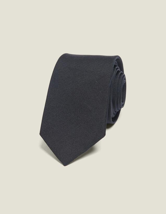 Classic silk twill tie : Belts & Ties color Navy Blue