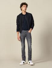 Washed grey jeans - Narrow cut : Essentials color Grey