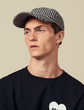 Houndstooth Cap : Hats color Black/White