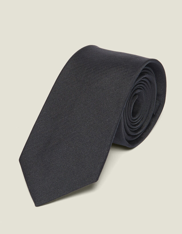 Classic Silk Twill Tie : Belts & Ties color Navy Blue