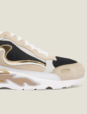 Flame sneakers : Spring Pre-Collection color Gold