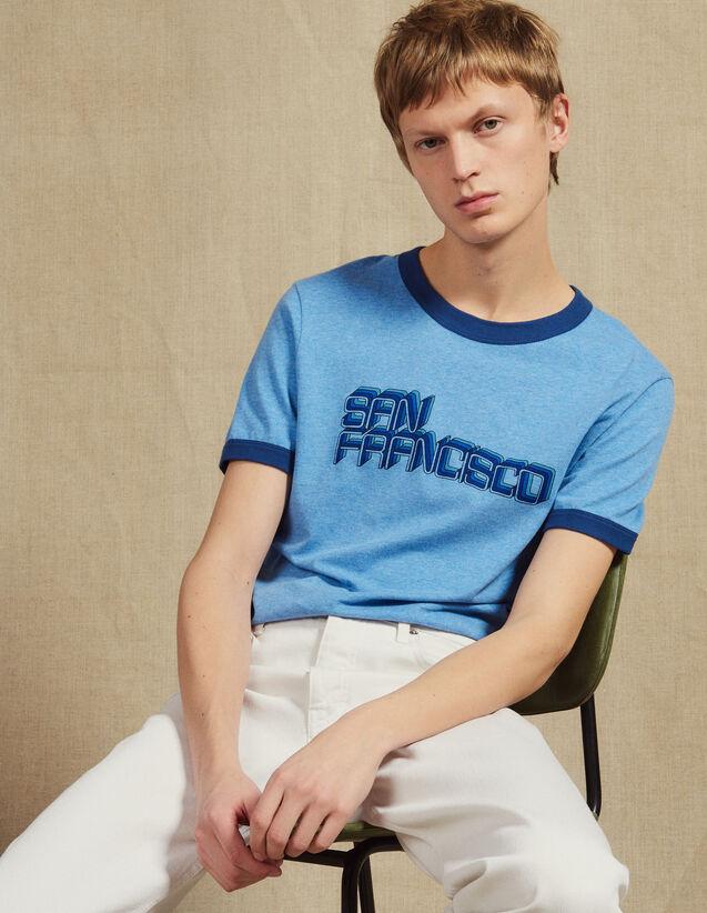 Slogan T-Shirt : T-shirts & Polos color Sky Blue