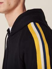 Hoodie With Striped Braid Trims : Sweatshirts color Navy Blue