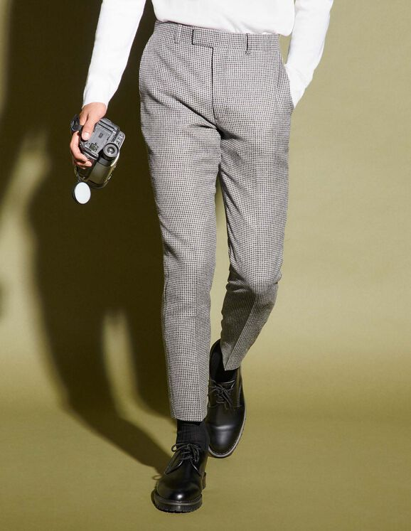 Sandro Houndstooth suit pants