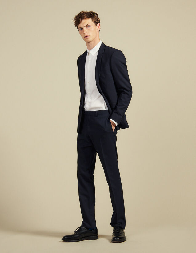 Classic Wool Suit Trousers : Suits & Blazers color Navy Blue
