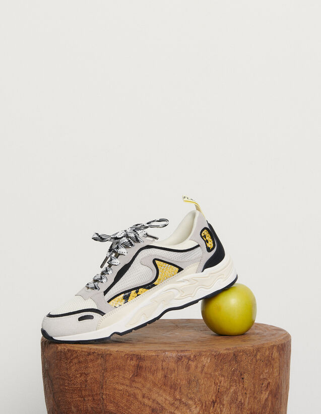 Flame sneakers : Spring Pre-Collection color yellow python