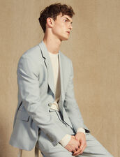 Wool Suit Jacket : Suits & Blazers color Putty