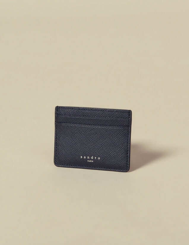 Leather Card Holder : Leather Goods color Navy Blue