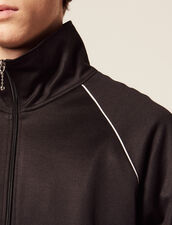 Track Top : Sweatshirts color Black