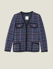 Checked tweed jacket : Jackets color Multi-Color