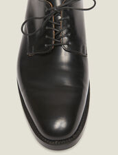 Leather Derby Shoe : Shoes color Black