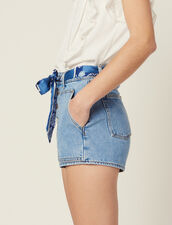 Denim Shorts With Scarf Belt : Pants & Shorts color Blue Vintage - Denim