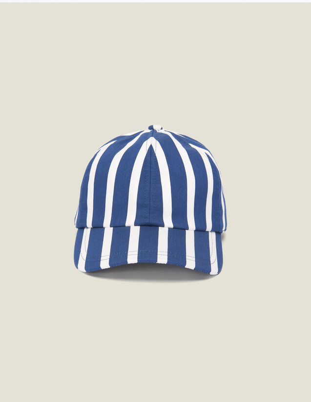 Cap With Contrasting Stripes : Hats color Red