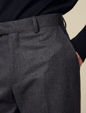 Tapered flannel pants : Pants color Mocked Grey