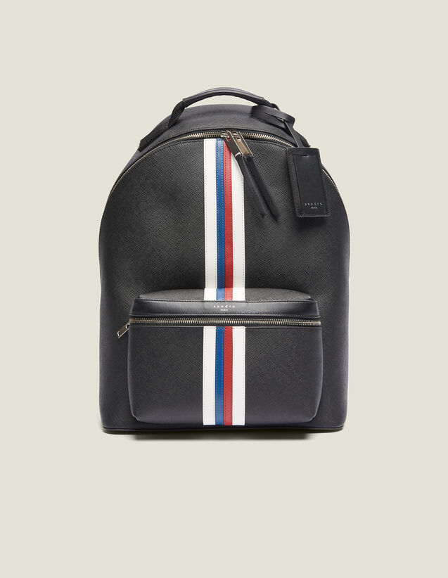 Saffiano Leather Backpack : Bags color Black