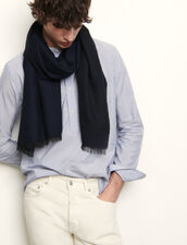 Two-tone reversible scarf : Spring Pre-Collection color Navy Blue