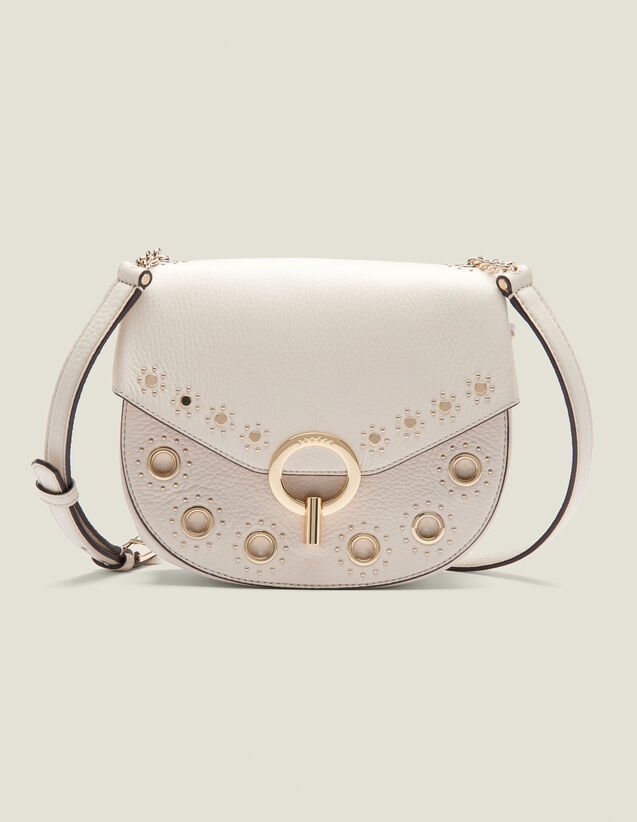 Pépita Bag, Medium Model With Studs : Bags color Ecru