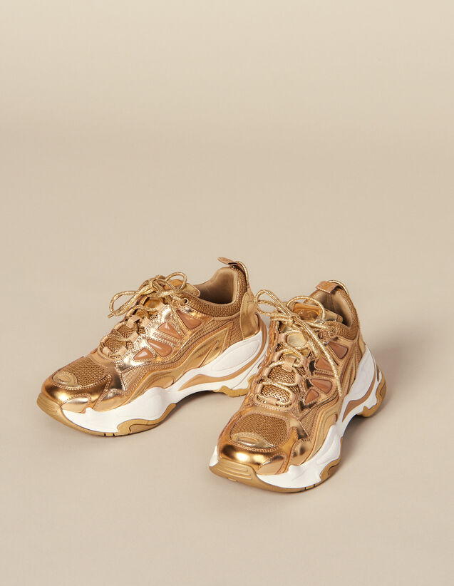 Astro Trainers : Shoes color Full Gold