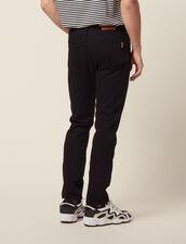 Narrow Cotton Canvas Jeans : Jeans color Black