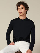 Fine knit wool sweater : Spring Pre-Collection color Bordeaux