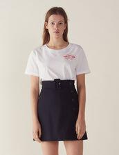 Short A-Line Skirt : Skirts color Navy Blue