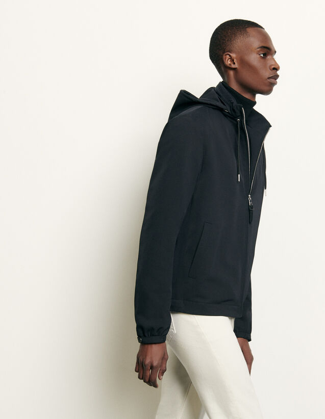Hooded jacket : Spring Pre-Collection color Navy Blue