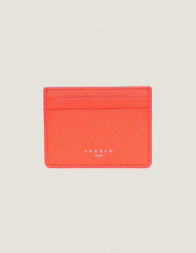 Leather Card Holder : Leather Goods color Bluish Grey