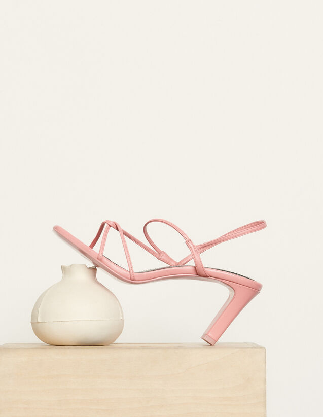 Sandals with narrow straps : Spring Pre-Collection color Malabar