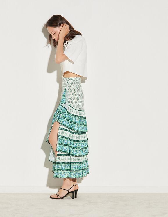 Sandro Skirt with layered ruffles