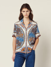 Printed Pajama Shirt : Tops & Shirts color Multi-Color