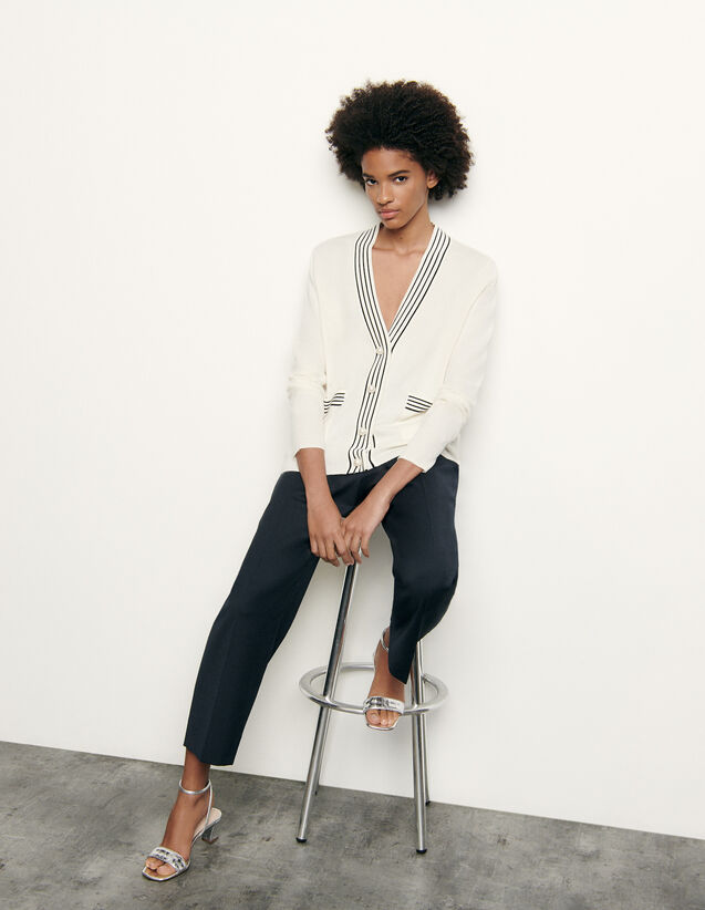 Wool and cashmere cardigan : Spring Pre-Collection color Ecru