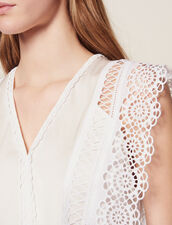 Sleeveless Top : Tops & Shirts color Ecru