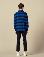 Checked cotton shirt : Shirts color Blue