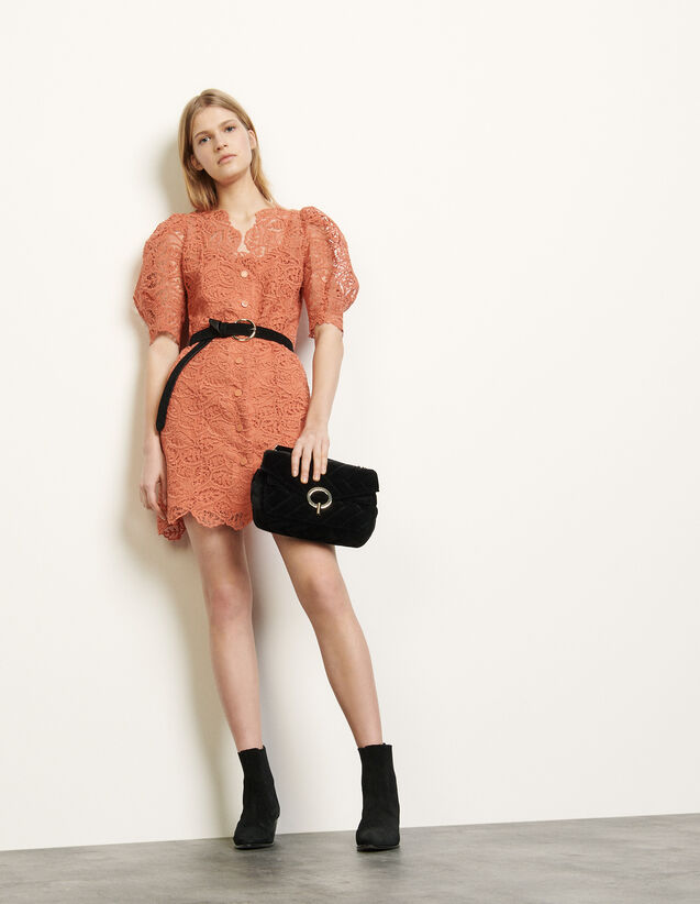 Lace coat dress : Spring Pre-Collection color Coral