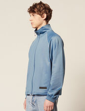 Track Top : Sweaters color Steel blue