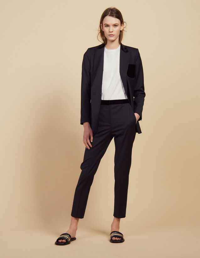 Straight tailored pants : Pants & Shorts color Navy Blue