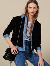 Quilted Velvet Jacket : Jackets color Black