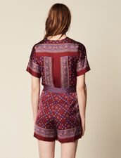 Printed Playsuit : Pants & Shorts color Bordeaux