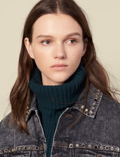 Wool Snood : Scarves color Forest Green
