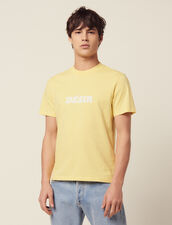 Cotton T-Shirt With Lettering : T-shirts & Polos color Light Yellow