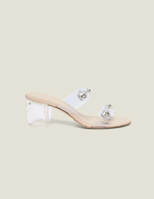 Pvc Mules With Straps : Shoes color Transparent