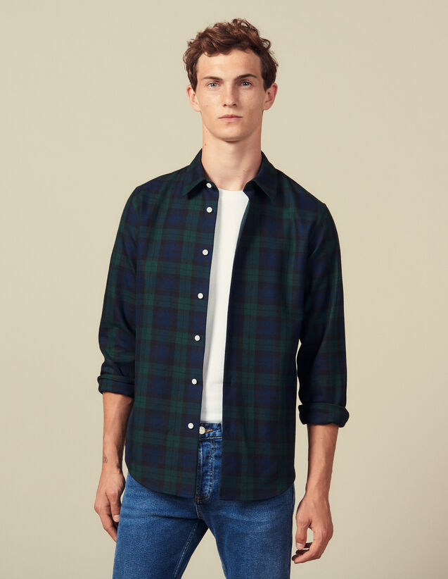 Tartan shirt : Shirts color Dark green