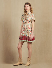Printed Shirt Dress With Open Back : Dresses color Multi-Color