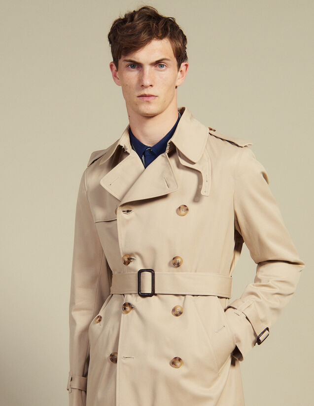 Belted Trench Coat : Summer Suitcase color Beige