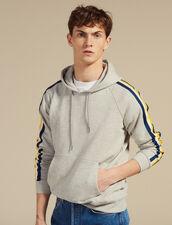 Fleece Hoodie Sweatshirt : Sweaters color Mocked Grey