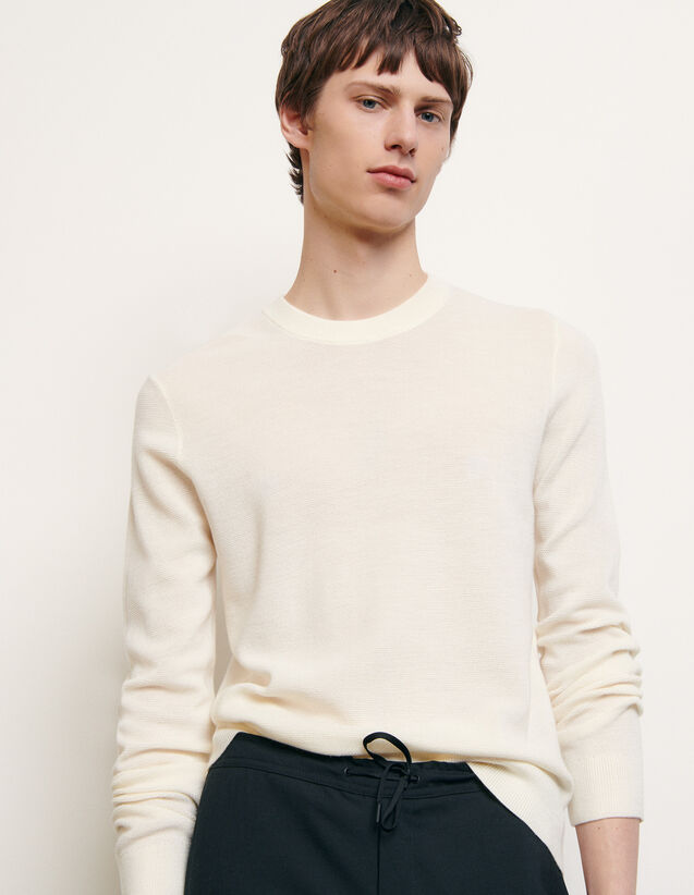 Bioche-stitch sweater : Spring Pre-Collection color Charcoal Grey