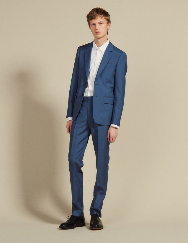 Wool Suit Pants : Suits & Blazers color Bluish Grey