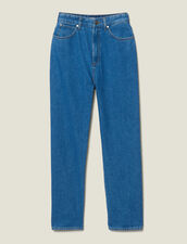 Two-Tone Mom Jeans : Jeans color Bleu Denim